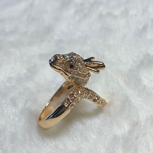 Jeweled dragon ring